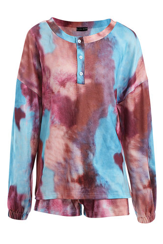 front_Blooming Kiss {Color} Tie Dye PJ Set