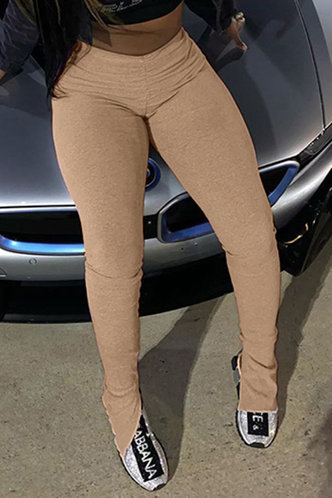 front_Madeline Eartha Light Khaki Leggings