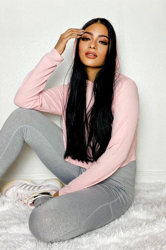 front_The Thought of You Blush Hoodie