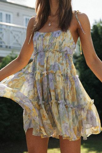 back_Addie Emily Floral Print Tie Shoulder Mock Dress