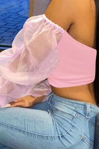 back_Romaine Evangeline Pink Blouse