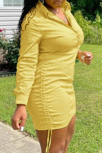 front_Carol Eudora Yellow Shirt Dress