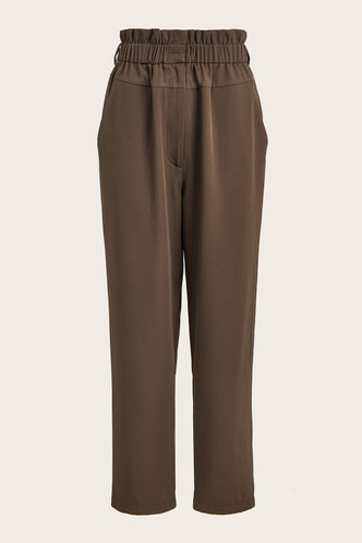 front_Beverly Eartha Brown Paperbag Pants