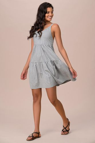 front_Hype Dream Grey Mini Dress