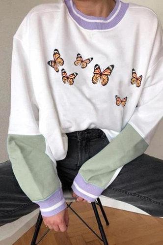 front_Eva Eileen White And Green Sweatshirt
