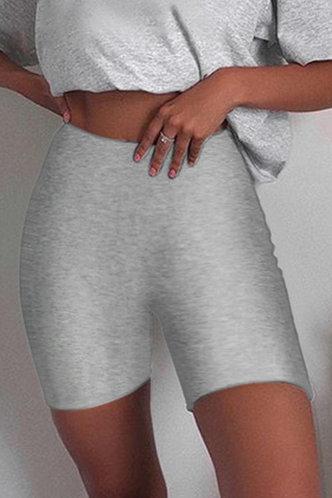 front_Debbie Eartha Heather Grey Biker Shorts