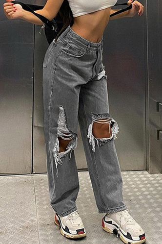 front_Roseanne Eden Black Ripped Knee JeanS