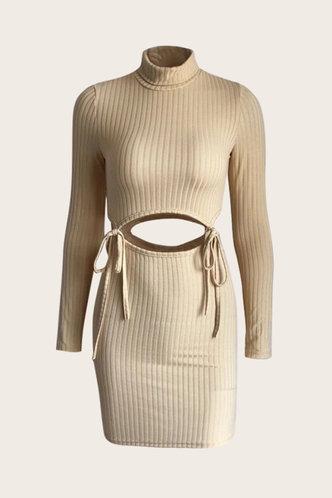 back_Khaki  Dresses