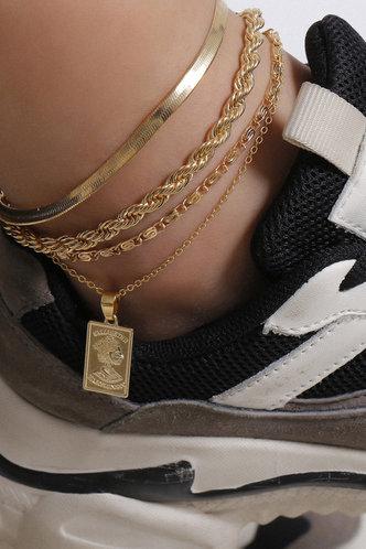 front_Rosalia Elizabeth Gold Anklet 4pcs