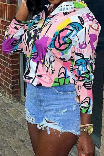 back_Casual Business Dropped Shoulder Multicolor Plus Size Blouses