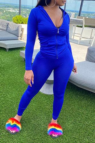 front_Iris Erica Navy Blue Activewear Set
