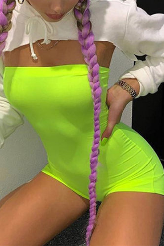 front_Susie Elma Lime Green Romper