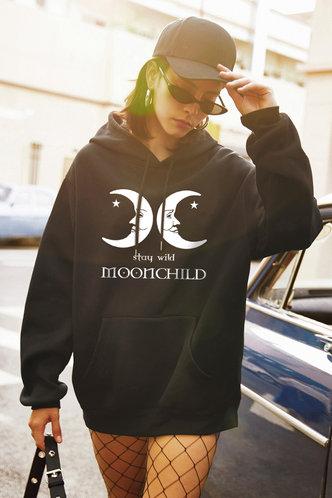front_Snowbird Black Hoodie