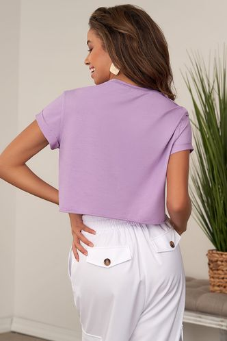 back_Mountain And River Roads Purple Short Sleeve Top