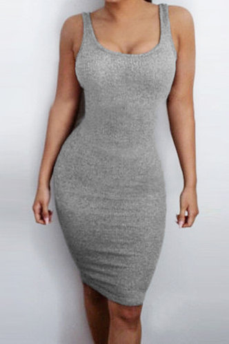 front_Maisie Eden Light Grey Dress