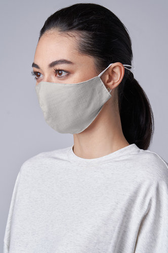 front_Non-medical Solid Color Cotton Reusable Face Mask