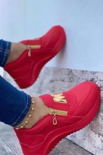 front_Dominic Geralan Red Sneakers