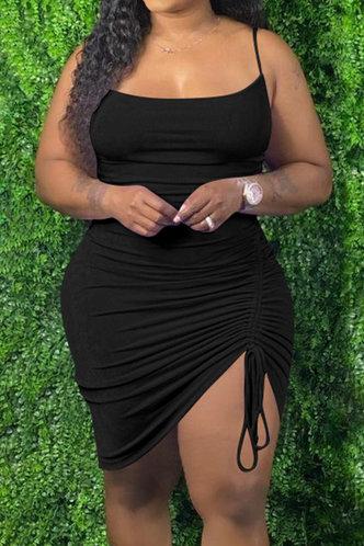 front_Fannie Esther Black Plus Size Dress
