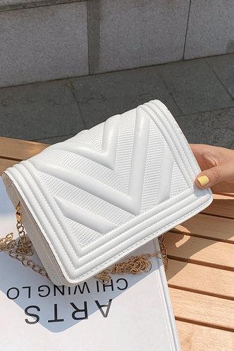 front_Evelyn Pentrist White Crossbody Bag