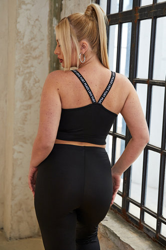 back_Francesca Eileen Black Plus Activewear Top