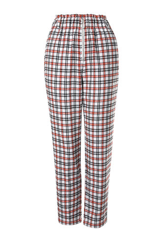 front_The Right Track Multicolor Plaid Plaid Peg Pants