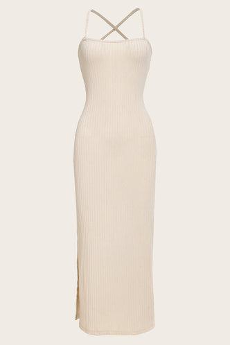 back_Elsa Land Beige Cami Bodycon Dress