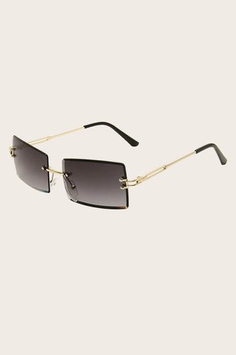 front_Summer Eleanore Grey Metal Frame Tinted Lens Sunglasses