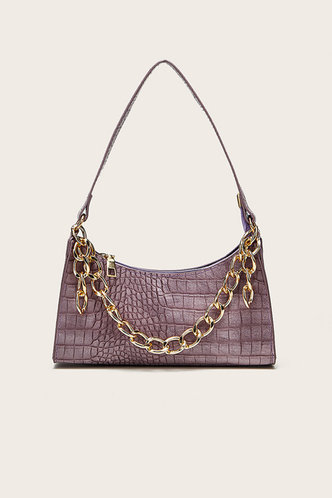 front_Claire Edith Purple Shoulder Bag