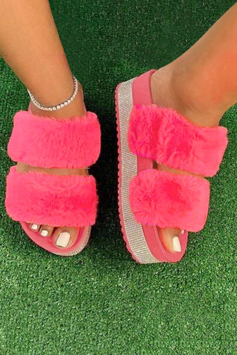 back_Gracia Eudora Rose Pink Plush Slides