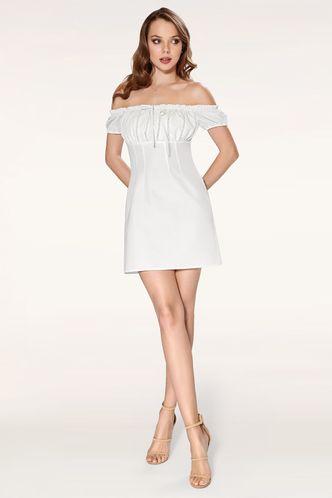 back_Marina White Mini Dress