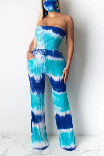 back_Adrienne Ella Blue Tie Dye Jumpsuit