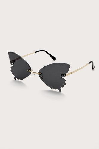 back_Germaine Elma Grey Heart Frame Sunglasses