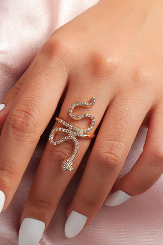 front_Hortense Elsa Gold Snake Design Ring