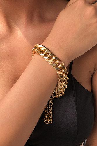 front_Magdalen Eleanore Gold Simple Chain Bracelet