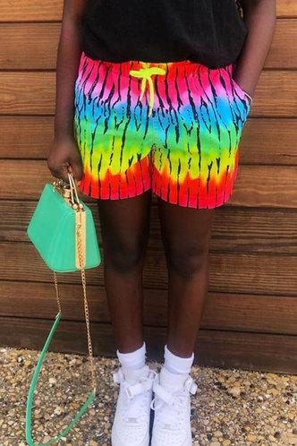 front_Bella Garan Tie Dye Shorts