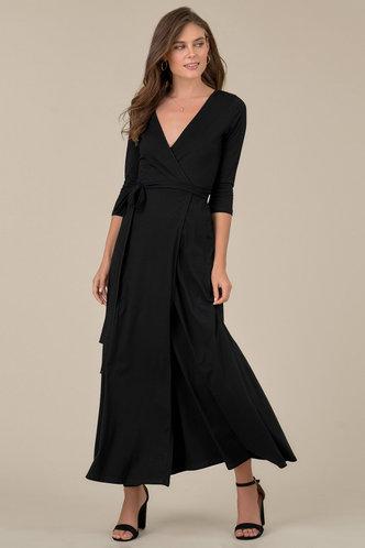 front_Mia Black Maxi Dress