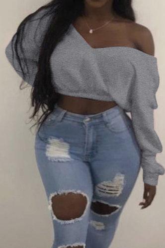 front_Diamond Eunice Grey Sweatshirt & Hoody