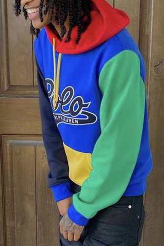 back_Casual Color Block Letter Multicolor Men Sweatshirts & Hoodies
