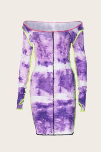 back_Jacqueline Ella Purple Tie Dye Bodycon Dress