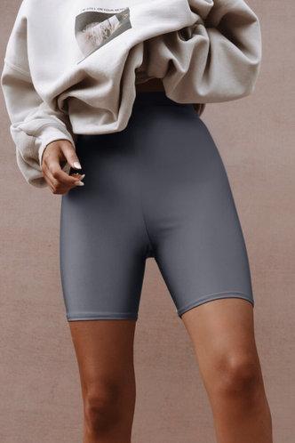 back_Candace Eileen Light Grey Biker Short