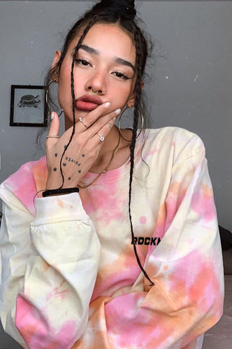 back_Almond Eden Tie Dye Sweatshirt