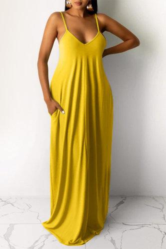 front_Jean Elva Yellow Dress