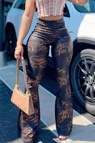 front_Heloise Ivens Snakeskin Print Pants