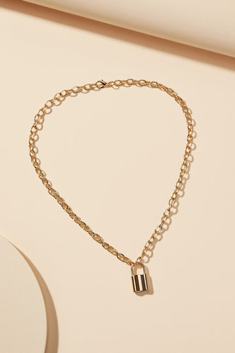 back_Marina Eileen Gold Simple Chian Necklace