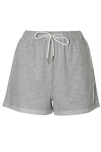 front_Totally Unbothered Grey Shorts