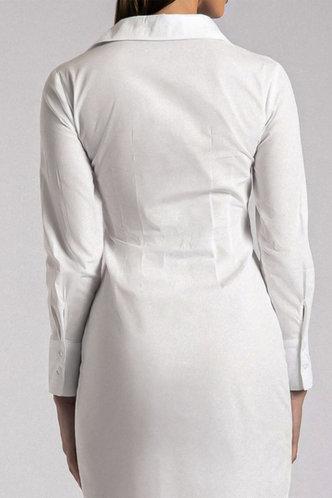 back_Gladys Evangeline White Button Up Dress