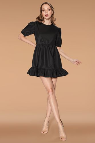 back_Little Secret Black Mini Dress