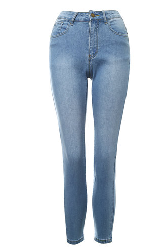 front_Quarter Past Five Light Wash Skinny Jeans