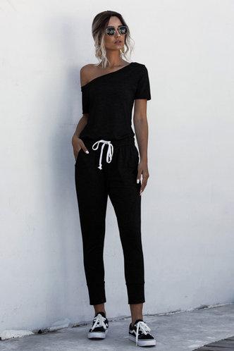 front_Brigitte Black Jumpsuit