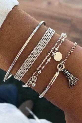 front_Maisie Elsa Sliver Bracelet 4pcs